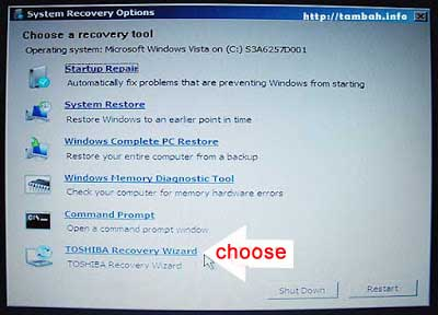 How to Factory Reset Toshiba Laptop Without Changing Drive Partition