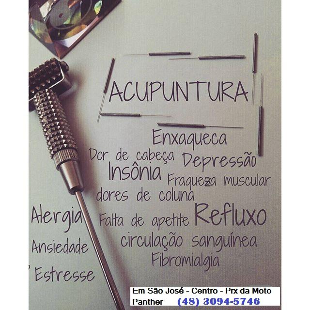 Acupuntura - Clínica em São Jose SC (48) 3094-5746 - Atendimento de segunda a sábado com hora marcada