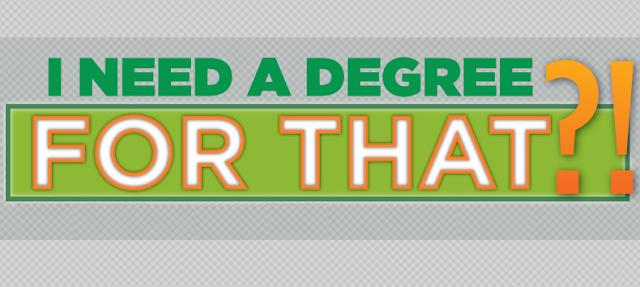 I Need A Degree For That? #Infographic
