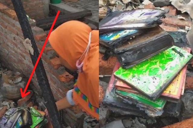 2 Rumah Ludes Dilalap Si Jago Merah, Al Quran dan Tasbih Masih Utuh, Warga: Ini Tanda Kebesaran Allah