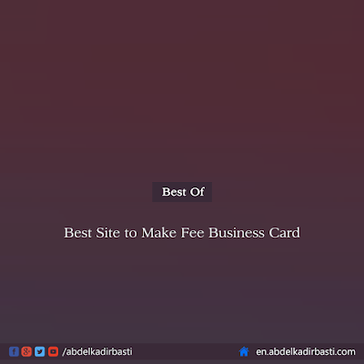 Best Site to Make Fee Business Card