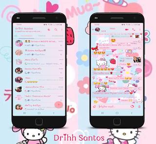 Hello Kitty Rosa Theme For YOWhatsApp & Fouad WhatsApp By Driih Santos