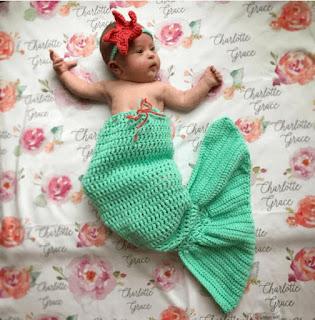 mermaid crochet pattern for baby