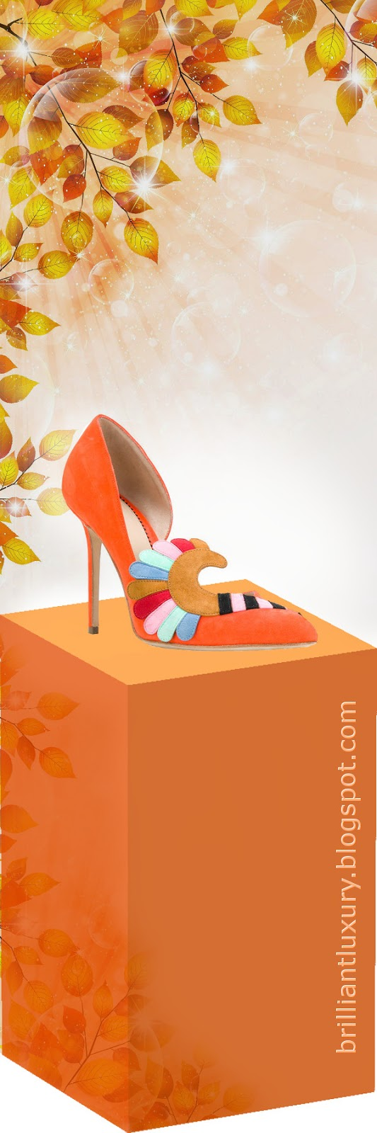 Brilliant Luxury ♦ Paula Cademartori Iris classic pumps #orange