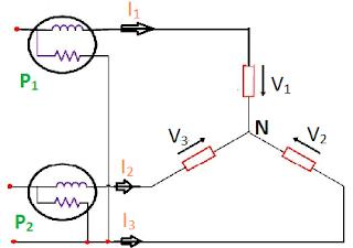three phase two wattmeter method