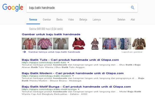 Google Memprioritaskan Website Qlapa Untuk Produk Handmade - Blog Mas Hendra
