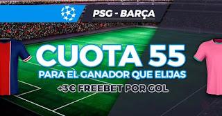 Paston Megacuota PSG vs Barcelona 10-3-2021