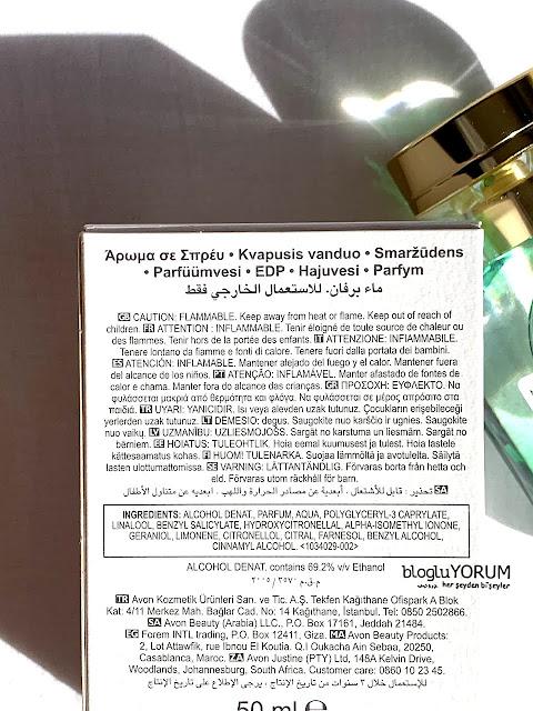 Avon Artistique Magnolia En Fleurs Parfüm incelemesi içerik
