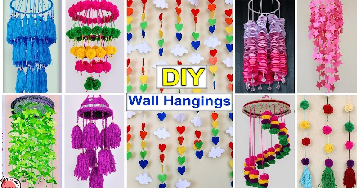 10 Easy Wall Hanging Craft Ideas At Home Crazzy Crafting