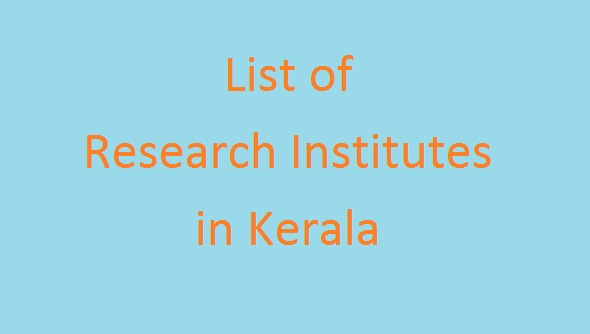 List of Research Institutes in Kerala