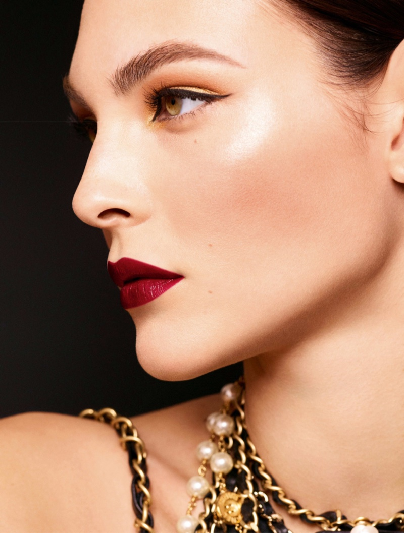 Vittoria Ceretti stars in Chanel Makeup Holiday 2020 campaign.
