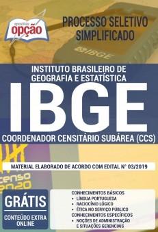 Apostila IBGE 2019 Coordenador Censitário Subárea PDF e Impressa