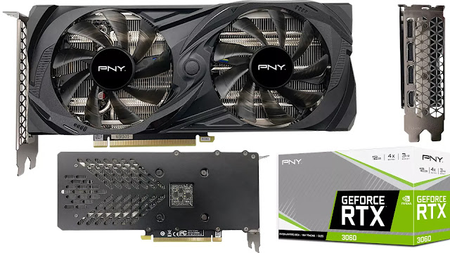 PNY-GeForce-RTX-3060-12GB-Uprising-Dual-Fan-Front-Back-Side-Top-Box-IO-View