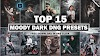 Download Top 15 Premium Moody Dark Tone Lightroom DNG Presets In One Click By Deepak Creations