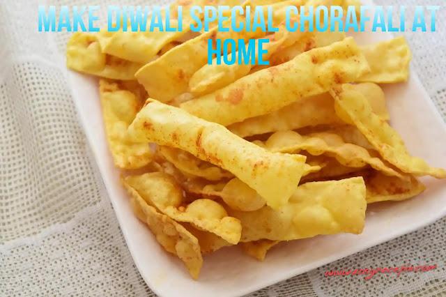 Chocolate peanuts recipe. Make diwali special chorafali at home