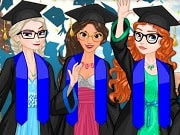 Play the best free online girl games, enjoy Disney Princess Graduation and all Dress Up games only on GamesGirlGames.com. The graduation day is finally here and four of your favourite Disney princesses are seeking a personal stylista to help them look jaw-dropping on the big day! Elsa, Elena, Merida and Jasmine are going to be your famous clients today so hurry up and join them in to help them prepare their graduation outfits! Begin the fun styling process with Elsa's outfit: select one lovely princess gown to dress her up with, then look for the right matching shoes to accessorise it with. Have a great time playing the 'Princess Graduation' dress up game for girls!