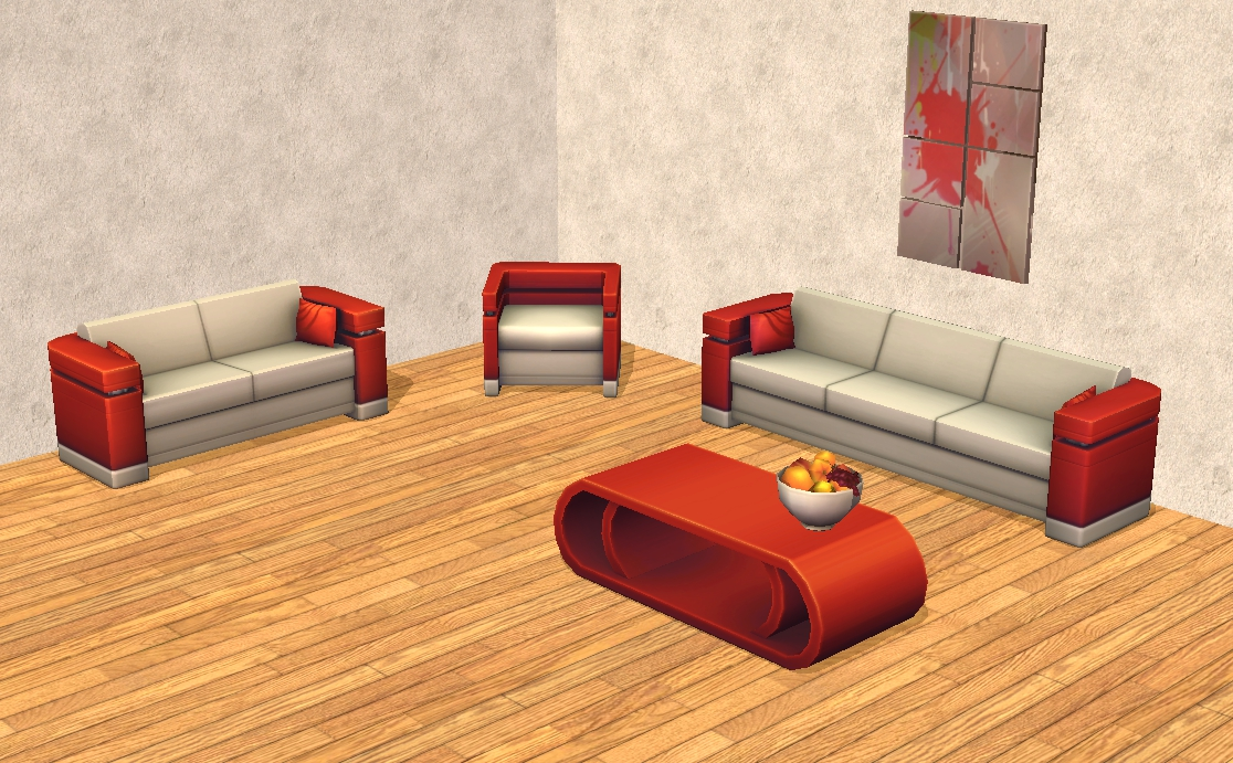 TheNinthWaveSims: The Sims 2 - The Sims 4 Living Room Set