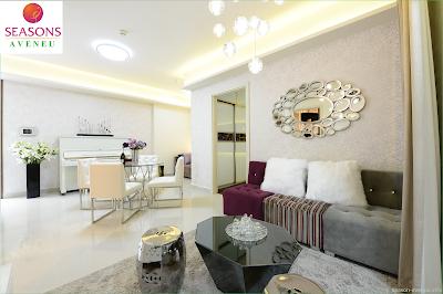 Thiết kế phòng khách căn hộ mẫu