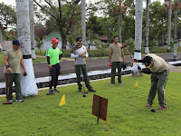 Perkokoh Soliditas Satuan, Unsur Pimpinan Korem 071/Wijayakusuma Woodball Bareng