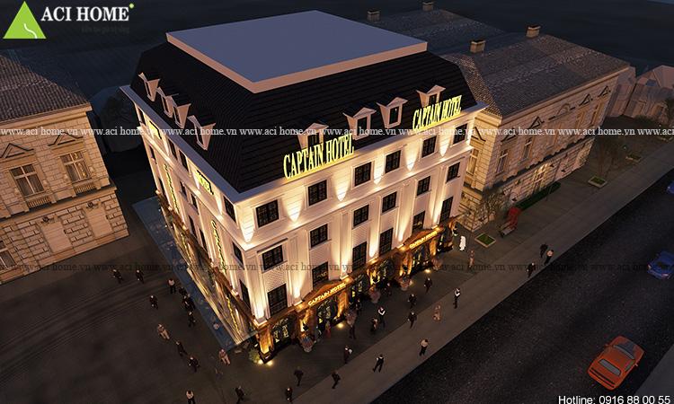 Thiết kế khách sạn Captain Hotel 5 tầng tại Hạ Long - Ảnh 1