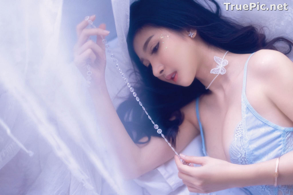 Image Thailand Sexy Model - Pattamaporn Keawkum - Blue Transparent Lingerie - TruePic.net - Picture-4