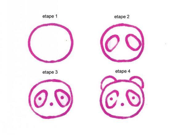 رسومات وجه للاطفال سهله