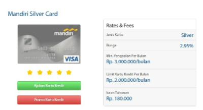 Jenis kartu kredit mandiri silver
