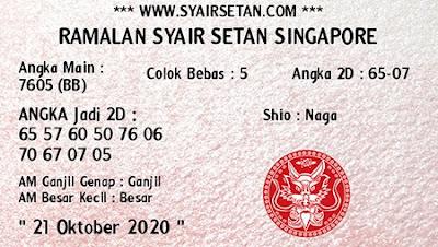 Kode syair Singapore Rabu 21 Oktober 2020 190