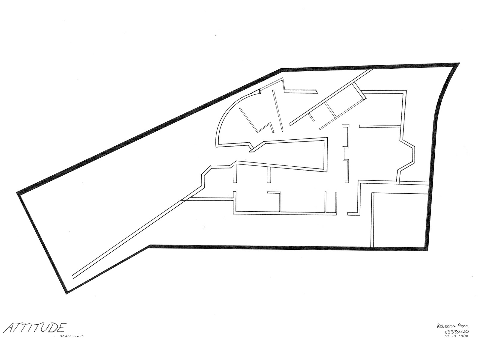 Rebecca Penn Arch Siza House Scanned Drawings For