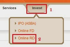 Bank of Baroda Online RD Account