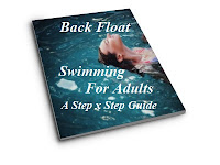 image of Back Float Swimming For Adults: A Step x Step Guide cover showing a Young woman floating on her back in the pool