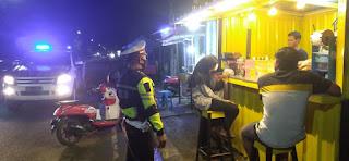 Polisi Datangi Tempat Keramaian di malam Hari,Ini Pesan Kapolres Sinjai