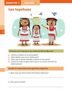 Apoyo Primaria Español 2do grado Bloque 2 lección 9 Los tepehuas