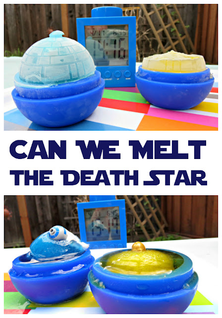 Science activity for kids: Melt the Death Star
