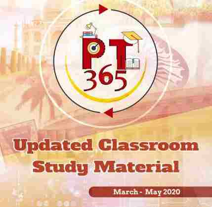 Vision IAS PT365 Updated Classroom Material March-May 2020