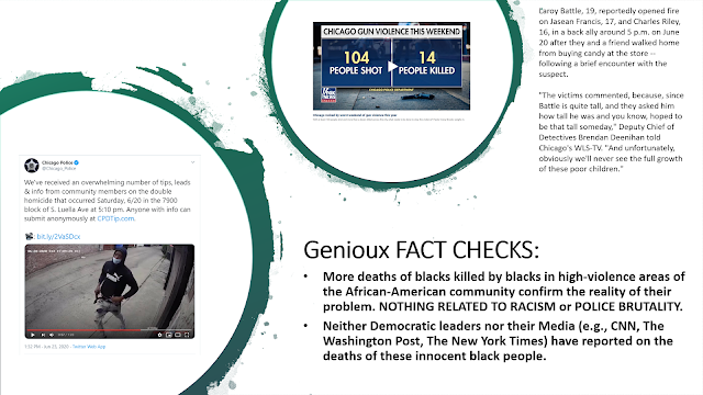 Genioux FACT CHECK: More deaths of blacks killed by blacks in high-violence areas of the African-American community confirm the reality of their problem