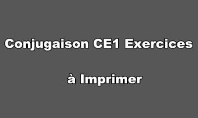 Conjugaison CE1 Exercices à Imprimer