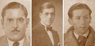 Los ajedrecistas Joan Bautista Sans, J. Solé y Francisco Miñana