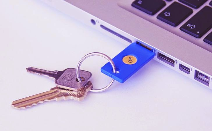 "Google Launches USB-Based ""Security Key"" To Strengthen 2-Step Verification"