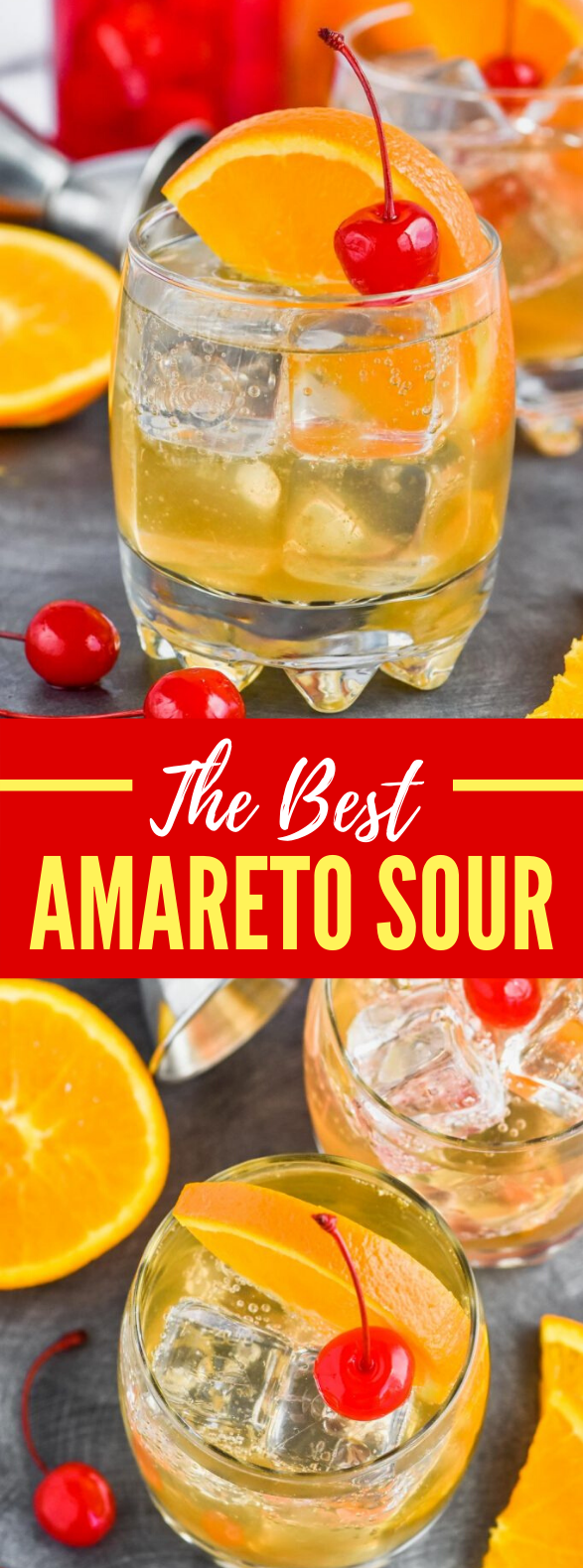 AMARETTO SOUR RECIPE #drinks #cocktails