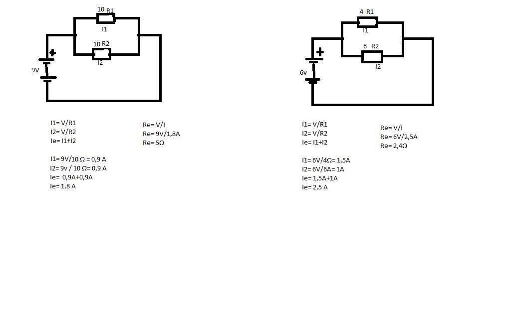 ejercicios de circuitos paralelo