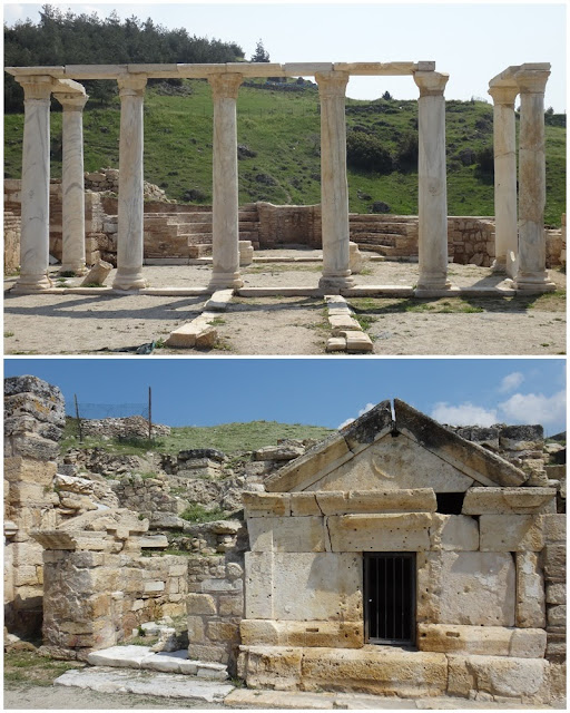 Some of the interior remainings of Church of the Sepulchre at Hierapolis in Pamukkale, Turkey