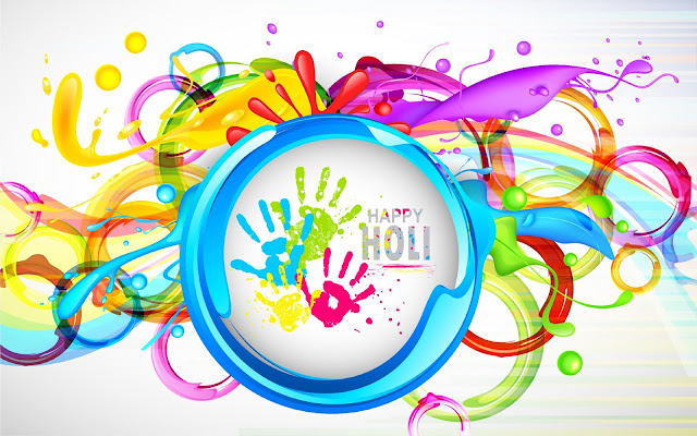 Happy Holi Background HD Wallpaper