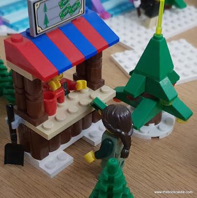 Christmas LEGO Village tree stall
