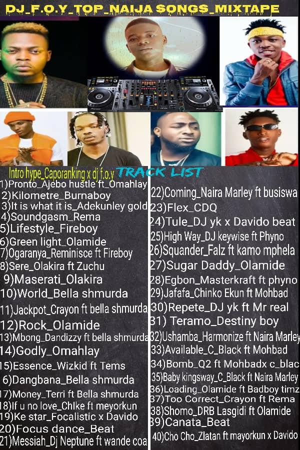 [Mixtape] DJ Foy - Top Naija songs mixtape - 39 songs #Arewapublisize