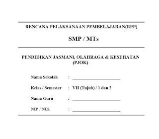 RPP PJOK Kelas 7 K13 Revisi Terbaru