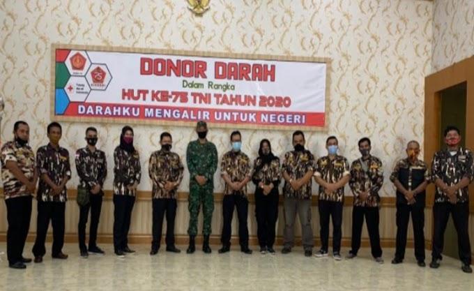 PC 0501 GM FKPPI Kota Jambi Ikut Partisipasi Donor Darah TNI di Kodim 0415/Batanghari