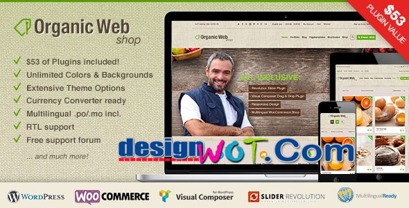 Organic Web Shop - A Responsive WooCommerce WordPress Theme