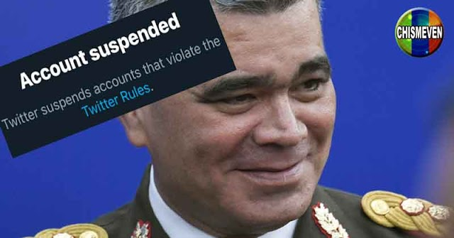 Twitter suspendió la cuenta de Vladimir Padrino López por abusador