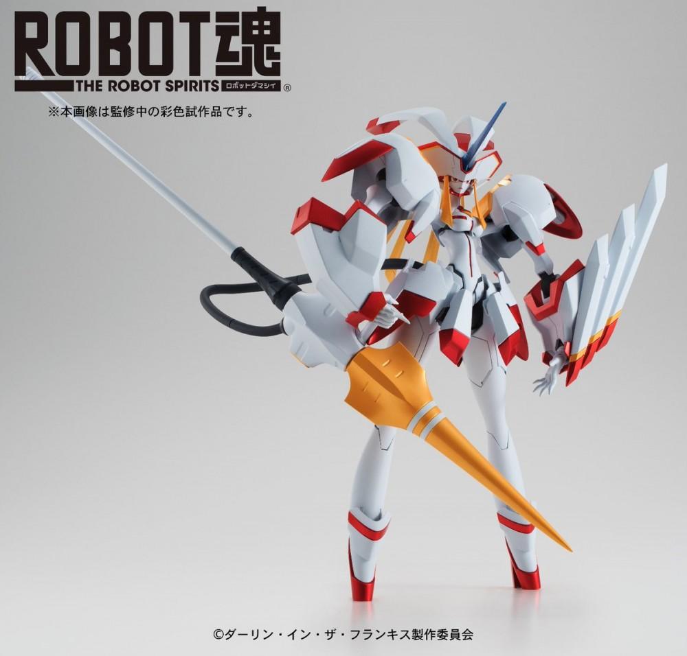 Tamashii Nations ha mostrado hoy la primera imagen de su ROBOT SPIRITS dedicado a Strelitzia de la serie anime DARLING in the FRANXX